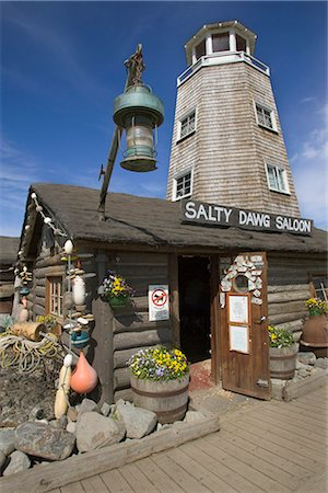 saloon - The Salty Dawg Saloon in Homer KP Alaska Summer Stock Photo - Rights-Managed, Code: 854-02955483
