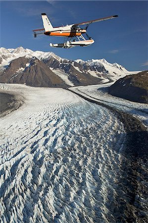 quest - Turbo Beaver flightseeing over Knik Glacier during Summer in Southcentral Alaska Stock Photo - Rights-Managed, Code: 854-02955670