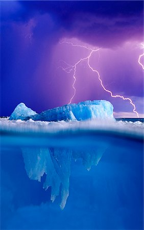 storm lightning - Tip of the Iceberg and Lightening Digital Composite Stock Photo - Rights-Managed, Code: 854-02956123