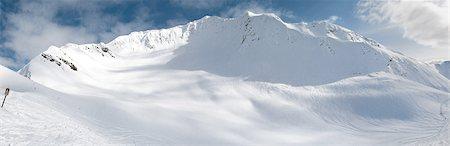 panoramic winter scene - Winter scenic of Alyeska Ski Resort's Glacier Bowl with visible ski tracks, Girdwood, Southcentral Alaska, Winter Stock Photo - Rights-Managed, Code: 854-03646714