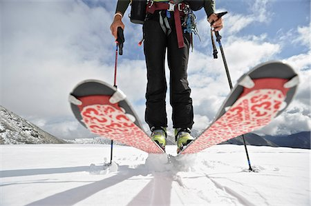 quest - Close up of a backcountry skier on the glacier on the north side of Mt. Chamberlin, Brooks Range, ANWR, Arctic Alaska, Summer Stock Photo - Rights-Managed, Code: 854-03740062
