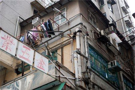 Old residential buildings at Tai Kok Tsui, Kowloon, Hong Kong Stock Photo - Rights-Managed, Code: 855-05984441