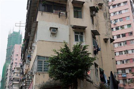 Old residential buildings at Tai Kok Tsui, Kowloon, Hong Kong Stock Photo - Rights-Managed, Code: 855-05984443