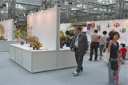 exhibition - Flower arrangement exhibition held at City Plaza, Taikoo Shing, Hong Kong Stock Photo - Rights-Managed, Code: 855-05981597