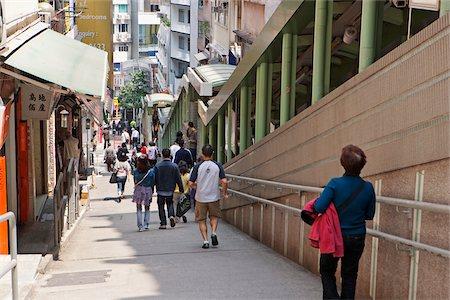 Central escalator, Central, Hong Kong Stock Photo - Rights-Managed, Code: 855-05983197