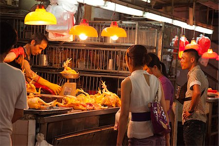 Shopping at the red market, Macau Stock Photo - Rights-Managed, Code: 855-06312484