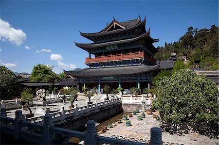 Mu family mansion, Wu Juan Pavilion, Lijiang, Yunnan Province, China Stock Photo - Rights-Managed, Code: 855-06313065