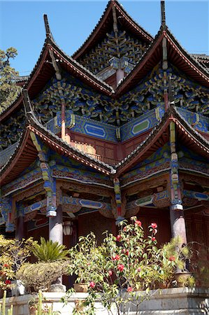 Mu family mansion, Wu Juan Pavilion, Lijiang, Yunnan Province, China Stock Photo - Rights-Managed, Code: 855-06313063