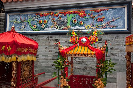 Shrine for Bun procession at Pak Tai Temple, Cheung Chau, Hong Kong Stock Photo - Rights-Managed, Code: 855-06313315
