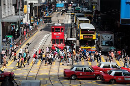 Des Voeux Road, Central, Hong Kong Stock Photo - Rights-Managed, Code: 855-06339375