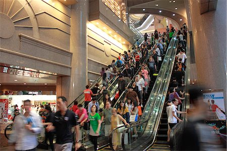 people on mall - Escalators at Times Square shopping mall, Causeway Bay, Hong Kong Stock Photo - Rights-Managed, Code: 855-06339386