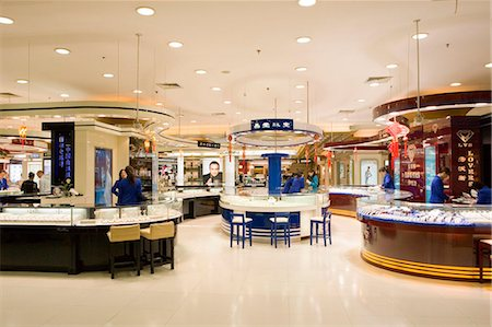 Jewelry counters in New World Department Store, Shanghai, China Stock Photo - Rights-Managed, Code: 855-02989116