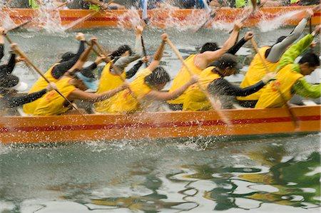 forward - Dragon boat race at Shaukeiwan,Hong Kong Stock Photo - Rights-Managed, Code: 855-03024032