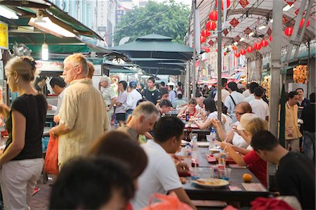 food stalls - Smith Street (food street) in Chinatown,Singapore Stock Photo - Rights-Managed, Code: 855-03025025
