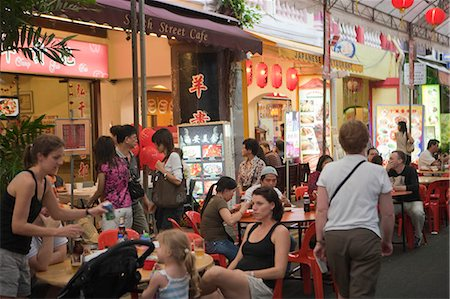 food stalls - Smith Street (food street) in Chinatown,Singapore Stock Photo - Rights-Managed, Code: 855-03025027