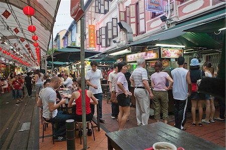 food stalls - Smith Street (food street) in Chinatown,Singapore Stock Photo - Rights-Managed, Code: 855-03025023