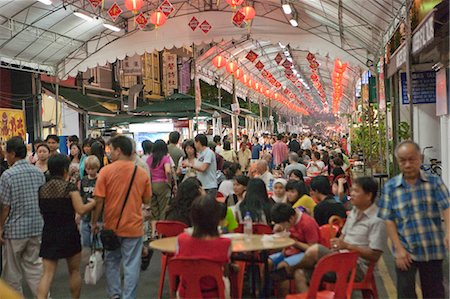 food stalls - Smith Street (food street) in Chinatown,Singapore Stock Photo - Rights-Managed, Code: 855-03025032