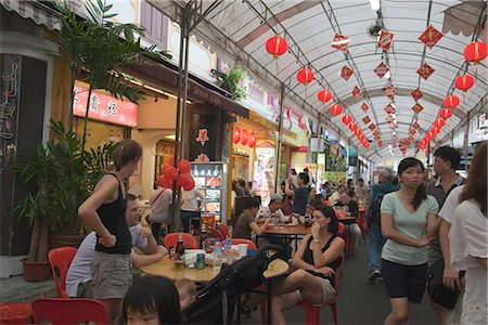 food stalls - Smith Street (food street) in Chinatown,Singapore Stock Photo - Rights-Managed, Code: 855-03025244
