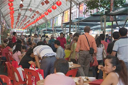 food stalls - Smith Street (food street) in Chinatown,Singapore Stock Photo - Rights-Managed, Code: 855-03025240