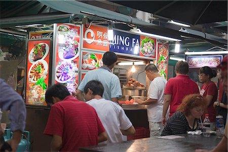food stalls - Smith Street (food street) in Chinatown,Singapore Stock Photo - Rights-Managed, Code: 855-03025241
