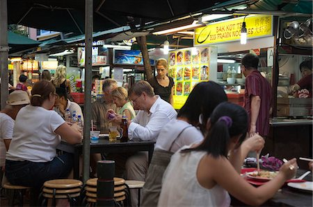 food stalls - Smith Street (food street) in Chinatown,Singapore Stock Photo - Rights-Managed, Code: 855-03025242