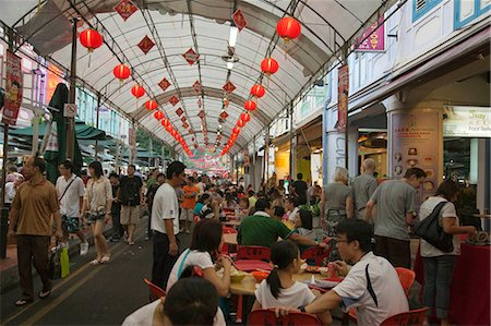 food stalls - Smith Street (food street) in Chinatown,Singapore Stock Photo - Rights-Managed, Code: 855-03025243