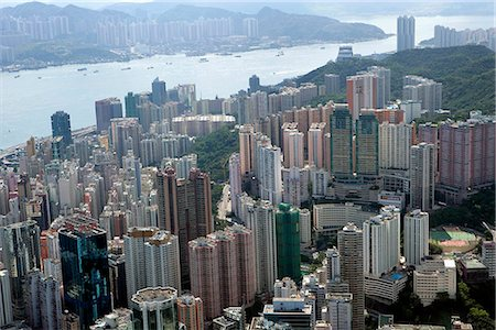 Aerial view over North Point,Hong Kong Stock Photo - Rights-Managed, Code: 855-03026670