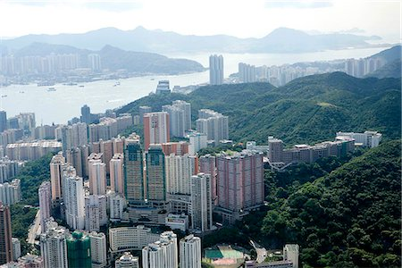 Aerial view over North Point,Hong Kong Stock Photo - Rights-Managed, Code: 855-03026671