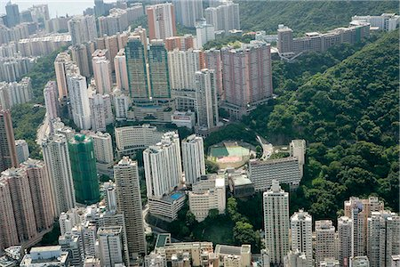 Aerial view over North Point,Hong Kong Stock Photo - Rights-Managed, Code: 855-03026672