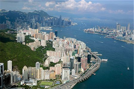 Aerial view of North Point overlooking Victoria Harbour,Hong Kong Stock Photo - Rights-Managed, Code: 855-03026687