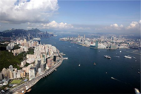 Aerial view of North Point overlooking Victoria Harbour,Hong Kong Stock Photo - Rights-Managed, Code: 855-03026688