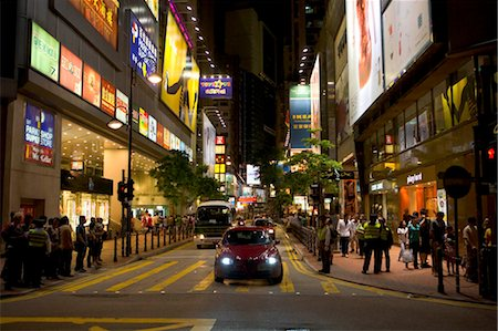 Streetscape in Causeway Bay,Hong Kong Stock Photo - Rights-Managed, Code: 855-03023210