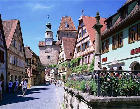 Rodergasse, Rothenburg ob der Tauber, Bavaria, Germany Stock Photo - Rights-Managed, Code: 855-03254844