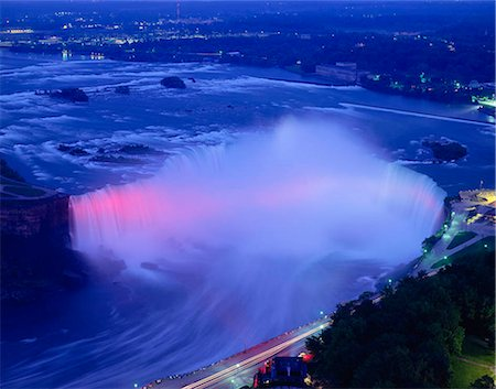 American Falls, Niagara Falls at night, New York, USA Stock Photo - Rights-Managed, Code: 855-03254941