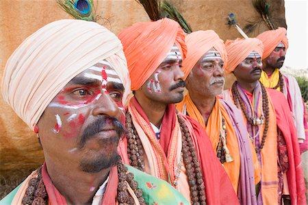 Five sadhus standing in a row, Hampi, Karnataka, India Stock Photo - Rights-Managed, Code: 857-03192798
