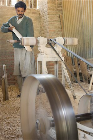 Carpenter making bat in a bat factory, Jammu And Kashmir, India Stock Photo - Rights-Managed, Code: 857-03193143