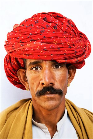 Portrait of a man wearing turban Stock Photo - Rights-Managed, Code: 857-03553520