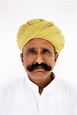 Portrait of a man wearing turban Stock Photo - Rights-Managed, Code: 857-03553531