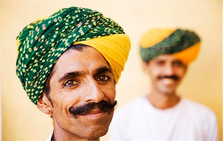 Portrait of two men smiling in a fort, Meherangarh Fort, Jodhpur, Rajasthan, India Stock Photo - Rights-Managed, Code: 857-03553568