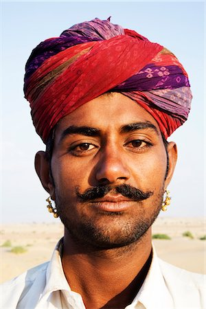 Portrait of a young man, Jaisalmer, Rajasthan, India Stock Photo - Rights-Managed, Code: 857-03553607