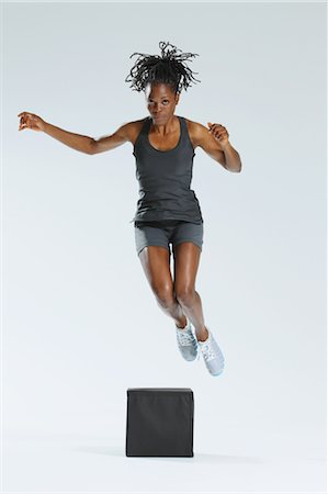 Woman Jumping Stock Photo - Rights-Managed, Code: 858-05799280