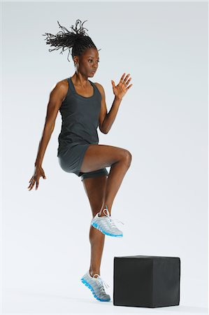 Woman Jumping Stock Photo - Rights-Managed, Code: 858-05799281