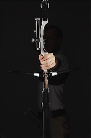 Archer Aiming, Silhouette Stock Photo - Rights-Managed, Code: 858-06121548