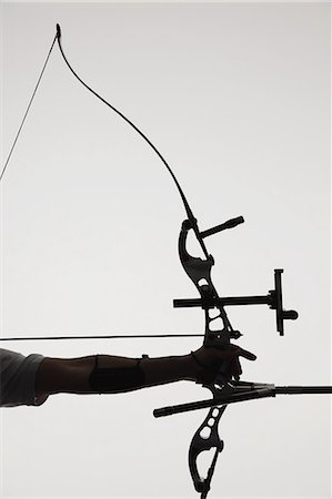 Human Hand With Archery Equipment Stock Photo - Rights-Managed, Code: 858-06121555