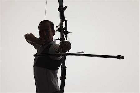Male Archer Targeting Stock Photo - Rights-Managed, Code: 858-06121551