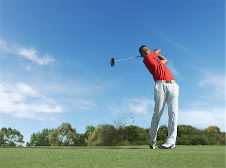 swing (sports) - Man Playing Golf Stock Photo - Rights-Managed, Code: 858-06159397