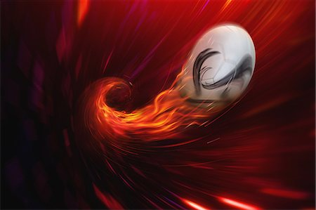 effect - Soccer Ball In Flames Stock Photo - Rights-Managed, Code: 858-06159399