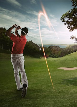 effect - Man Looking Golf Ball Stock Photo - Rights-Managed, Code: 858-06159392