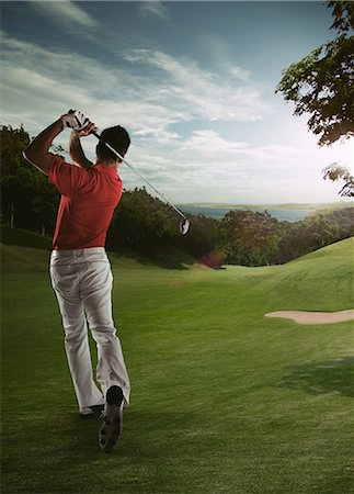 effect - Man Looking Golf Ball Stock Photo - Rights-Managed, Code: 858-06159393