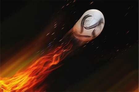 effect - Soccer Ball In Flames Stock Photo - Rights-Managed, Code: 858-06159400